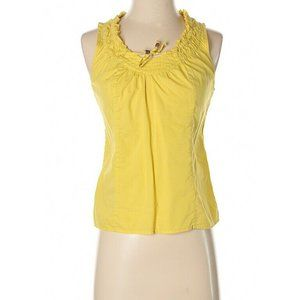 EDME & ESTYLLE 6 Yellow BoHo Peasant Top